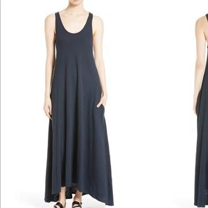• Theory • Laurem A Line Maxi Dress Navy Medium
